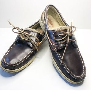Sperry Top-Sider Bluefish Dark Brown Leather Boat